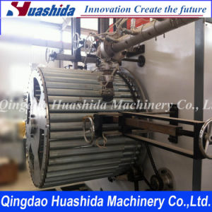 Hollow Wall Metal Reinforced Pipe Making Line / Pipe Extrusion Line pictures & photos