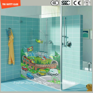 3-19mm Cartoon Image Digital Paint/ Silkscreen Print/ Pattern Flat/Bent Safety Tempered/Toughened Glass for Wall/Shower /Partition with SGCC/Ce&CCC&ISO pictures & photos