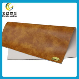 Abrasion Resistant and Anti-Mildew Soft Semi-PU Furniture Leather (818#) pictures & photos