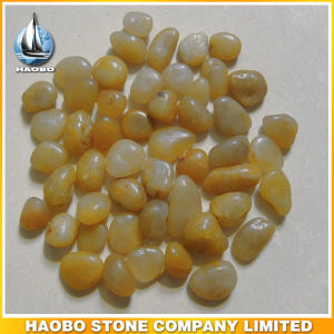 Decorative Pebbles for Garden and Pavement Yellow Color pictures & photos