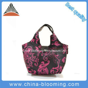 Portable Promotion Foldable Polyester Tote Shopping Lunch Cooler Bag pictures & photos