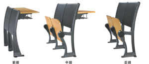Best Aluminium School Chair with Fixed Table (YA-011A) pictures & photos