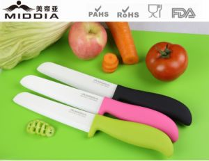 6inch Popular Non-Slip Handle Ceramic Bread/Slicing Knives pictures & photos