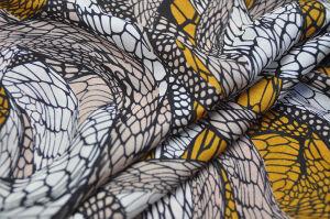 Chiffon Georgette Cdc Silk Fabric
