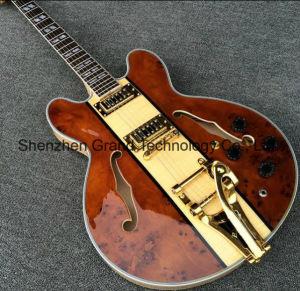 Es335 Semi Hollow Body Archtop Guitar with Bigsby Tremolo (TJ-243) pictures & photos