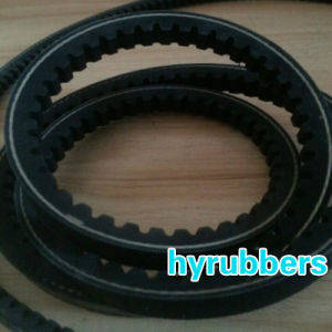 Qindao Auto Triangle Rubber Raw Edge Cogged V Belt pictures & photos