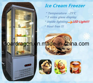 Vertical Ice Cream Freezer Temperature -25degree C pictures & photos