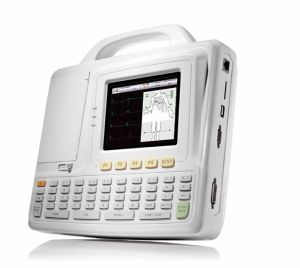 Six Leads Channel ECG Machine EKG Electrocardiograph Holter Big Screen ECG pictures & photos