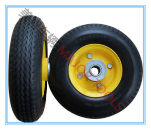 PU Solid Tire Foam Rubber Trolley Wheel 2.80/2.50-4 pictures & photos