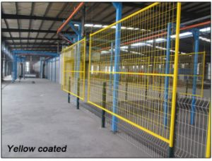 Coated Yellow Powder 1830mm X 3000mm Canadan Temporary Construction Fence Panels pictures & photos