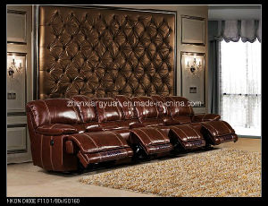 Home Theatre Furniture Recliner Movie Leather Chairs Cinema Leather Luxtury Chairs
