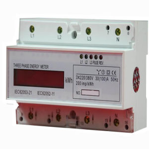 LCD Display Three Phase Smart DIN Rail Meter pictures & photos