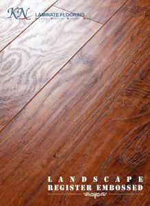 Hickory Laminate Flooring V-Bevel Painting HDF E1 Embossed-in-Register (EIR) pictures & photos