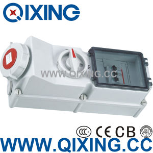 Industrial Socket with Interlock Switch and Break (QX5946) pictures & photos