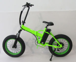 20 Inch Small Folding Electric Bike with Fat Tire pictures & photos