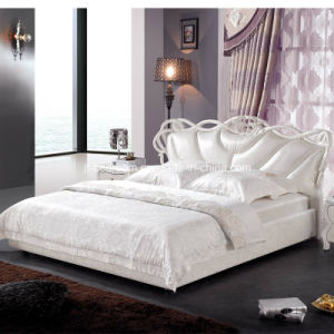 Simple Classical Leather Bed (V803) pictures & photos