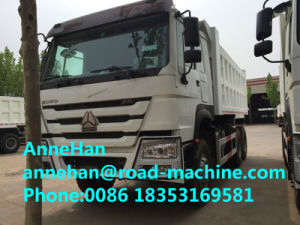 New Face HOWO 6X4 Tipper Truck Front Lifting 18cbm Cargo Body White Color pictures & photos