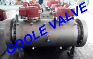 Worm Gear Operated Forged 3 PCS Dbb Ball Valve (GADBB347F) pictures & photos