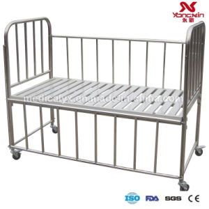 Stainless Steel Child Bed with Wheels