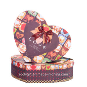 Printing Love Heart Shaped Chocolate Packaging Boxes pictures & photos
