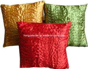 Pleated Satin Decorative Cushion