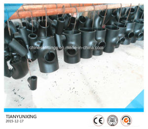 Asme Seamless A234 Reducing Tee Carbon Steel Pipe Fittings pictures & photos