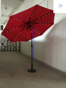10ft LED Umbrella Garden Umbrella Patio Umbrella Outdoor Umbrella with Solar LED Umbrella (Hz-S065) pictures & photos