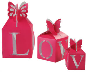 Pink Printing Wedding Candy Gift Boxes pictures & photos