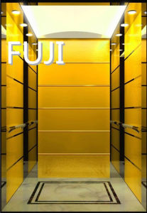 Pure Golden Passenger Elevator /Passenger Lift pictures & photos