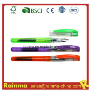 Color Plastic Fountain Pen with Ink Cartridge pictures & photos
