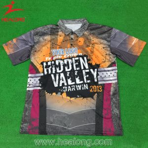 Healong Custom Cheap Hot Sublimation Cool Fashion Polo Top T Shirts pictures & photos