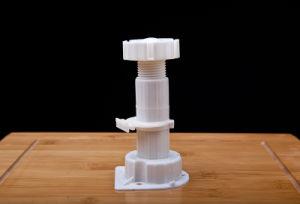 Adjustable White Plastic Furniture & Ambry Leg 12.5~15cm