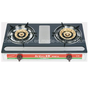 2 Burner Black Coated Staniless Steel Gas Stove pictures & photos