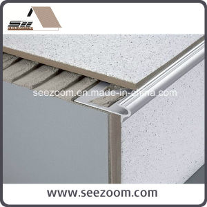 Silver White Aluminum Stair Nosing / Edge Tile Trim