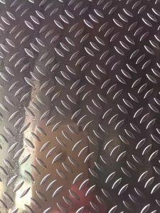 5052 5005 5754 Aluminium Tread Plate in 5 Bars Pattern pictures & photos