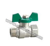 Reduced Male Thread Forged Brass Butterfly Handle Ball Valve pictures & photos