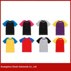 Wholesale Round Neck Plain Unisex T Shirts (R91) pictures & photos