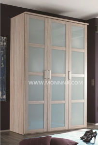 Melamine and Glass Wardrobe with E1 and ISO Standard