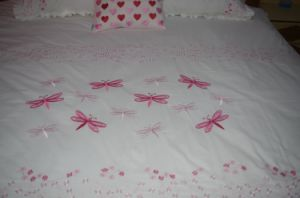 Summer Use Dragonfly Embroidery Bedding Sets pictures & photos
