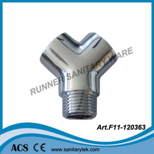 "Chrome Plated Brass Three-Way Connector 1/2"" F/M/F Thread pictures & photos"