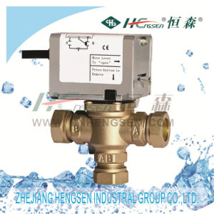 D F-03 Motorized Zone Valve/3 Way Motorised Valve/3 Port Diverter Valve/Spring Return Valve Used in Heating&Cooling System22, 28mm Compression pictures & photos