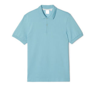 China Factory Top Quality Polo Neck Sky Blue Color Plain Menu2032s Polo Shirt