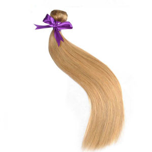 Peruvian Straight Hair Honey Blonde 27 Color 100% Human Hair Extension Weave Bundles Non-Remy Hair Thick Weft 10inch pictures & photos