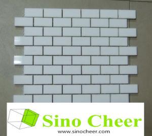 Natural Stone White Marble Mini Brick Mosaic pictures & photos