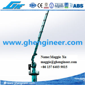 10t15m Hydraulic Knuckle Boom Marine Cylinder-Luffing Ship Deck Crane pictures & photos