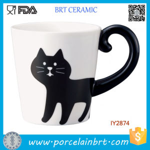 Adorable Black Cat Tail Mug Cup Ceramic Animal Cup pictures & photos