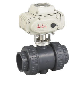 UPVC Ball Valve with Electric Actuator Hl-05 pictures & photos