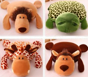 Coral Fleece 3D Animal Design Blanket and Cushion Pet Blanket Pet Cushion Multi-Functional