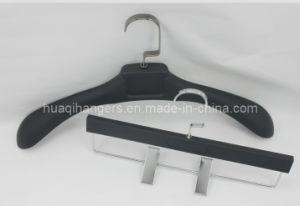 Hot Sale Glod Plating Plastic Clothes Hanger pictures & photos