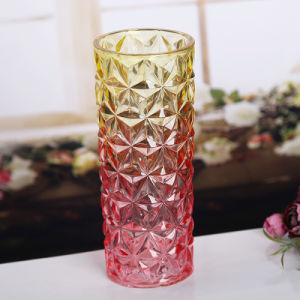 Fashionable Colored Glass Flower Vase Crystal Vase pictures & photos